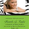 Traditional Custom Printed Graduation Announcement example 1