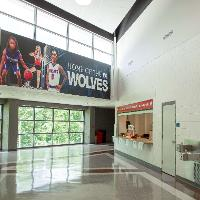 View of the concourse and concession stand