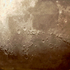 A portion of the Moon as viewed through the telescope.