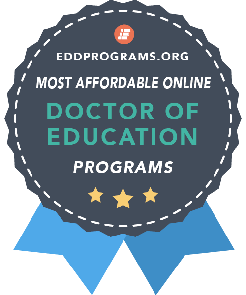 eddprograms.org badge for most affordable online program