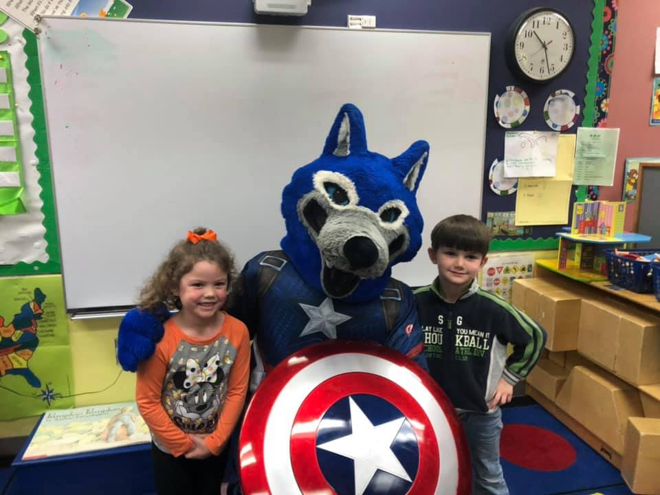 wolfie as captain america