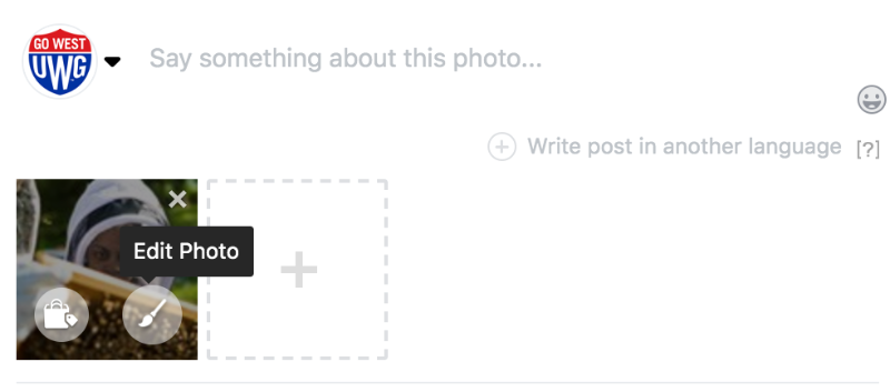 Facebook Alt Text Field