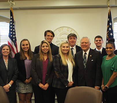UWG students with Nathan Deal