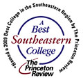 2009 Best College in the Southeastern Region by the Princeton Review