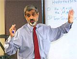 Dr. Beheruz N. Sethna teaching class