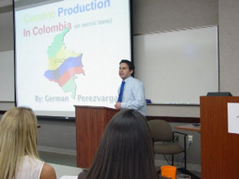 German Perez Vargas was chosen as the finalist from among four presentations
