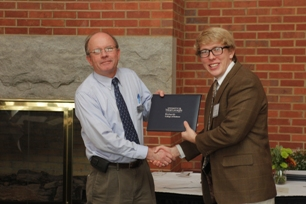 Daniel Forsberg (Suzanne Lankford Sullivan Memorial Scholarship recipient) and Dr. Boldt