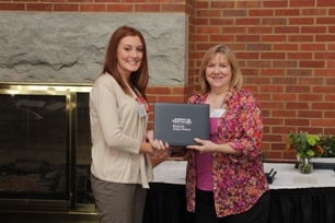 Ashley Merrell (Jimmy Couch Memorial Scholarship recipient) and donor representative, Karen West