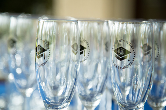 forever west champagne glasses