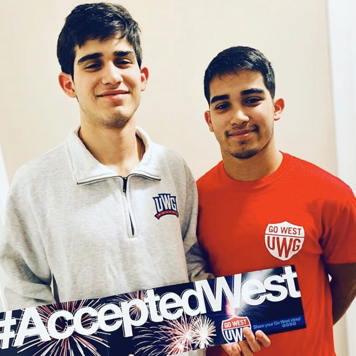 Male student accepted west at UWG