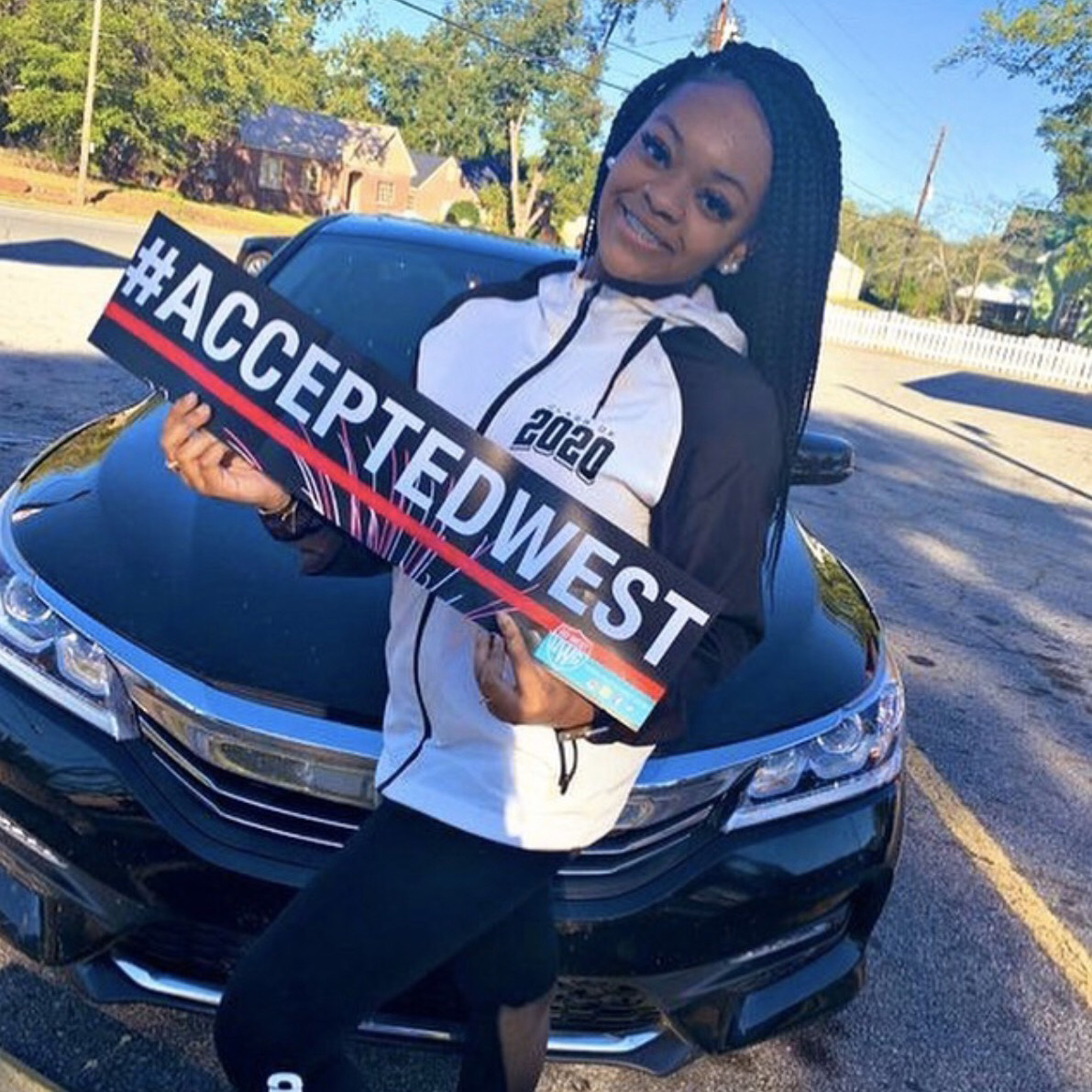 Female student accepted west at UWG