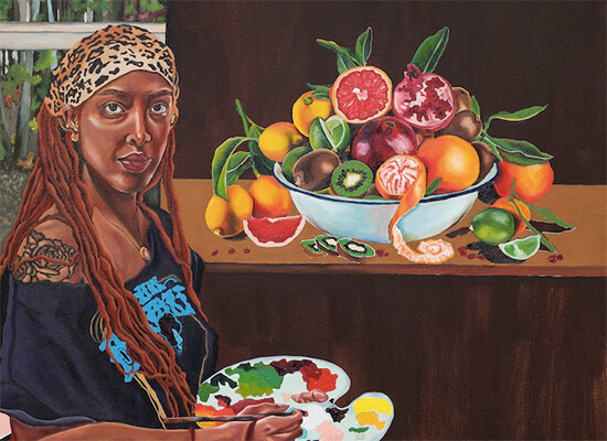 Sometimes You Just Want Fruit, painting by Ariel Dannielle