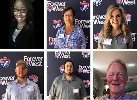 Photo collage of six alumni
