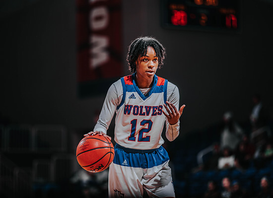 UWG Wolves basketball player