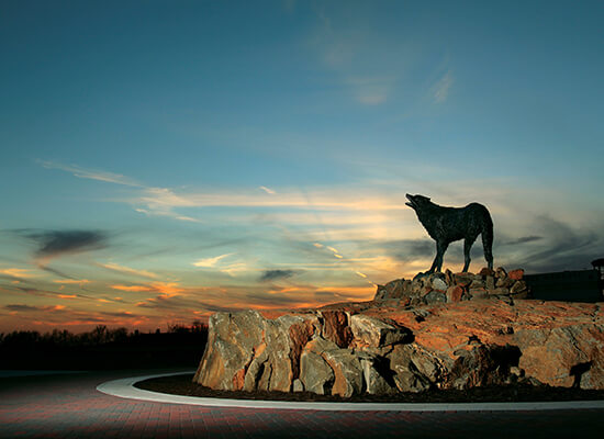 UWG Wolf statue