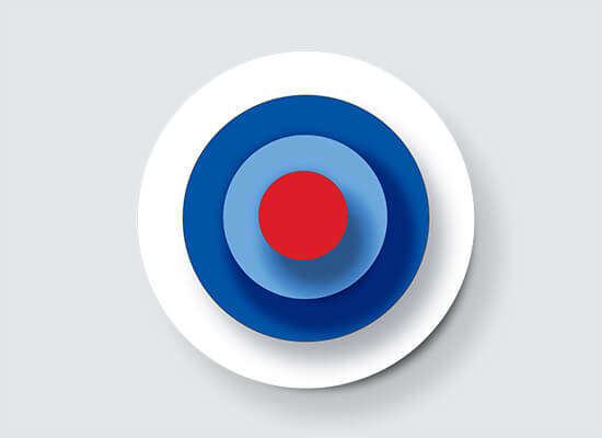 Red, white and blue bullseye