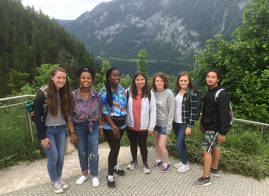 A group of students in Austria