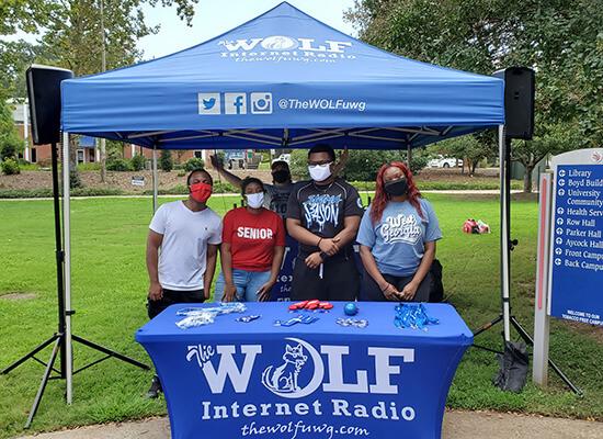 WOLF Internet Radio student employees