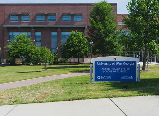 Exterior of UWG's Tanner Health System School of Nursing