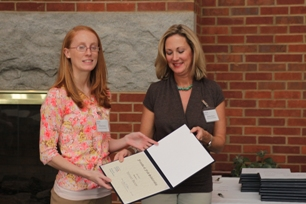 Tiffany Brady (Friends of Fred Scholarship recipient) and donor representative Andrea Stone