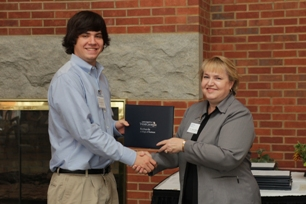 Alexander Gosch (James B. Lipham Scholarship recipient) and Dr. McIntyre