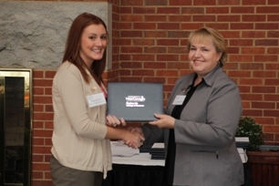 Ashley Merrell (Hugh W. Richards Memorial Scholarship) and Dr. McIntyre