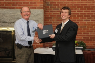Justin Ennis (Homer A. Hunt Scholarship recipient) and Economics Department Chair, Dr. Boldt