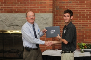 Clinton Baxter (Economics Departmental Scholarship recipient) and Dr. Boldt