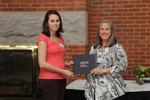 Ann Rayburn (Garrett, Stephens, and Thomas, P.C., Scholarship recipient) and Ann Fazio, donor representative