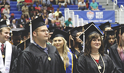 Spring 2017 Commencement at The Coliseum at The University of West Georgia