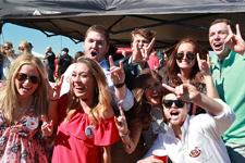 Students enjoying our traditional Spirit Tailgating experience