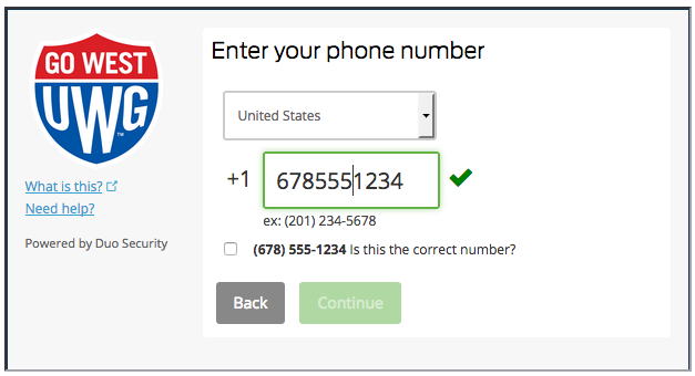 Enter your phone number.