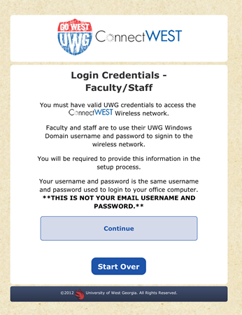 Faculty/Staff Login Credentials