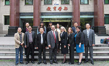 University of West Georgia President Kyle Marrero and several UWG representatives recently traveled to Chongqing, China to sign an updated study abroad agreement with Southwest University (SWU).