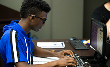 Abdulaah Savage was one of more than a dozen high school students who recently came to the University of West Georgia to dedicate one last week of summer break to learning about cybersecurity, its principles and how it applies to everyday life.