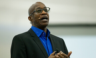Dr. Edwin Moses' life can be summarized in numbers — two gold medals, four world records, 13 steps, 400 meters, 1,500 miles a year …