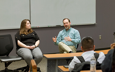 Earlier this month, University of West Georgia alumni serving as health care professionals presented before Emerging Healthcare Leaders (EHL), a multidisciplinary student organization housed in the chemistry department with more than 60 members.
