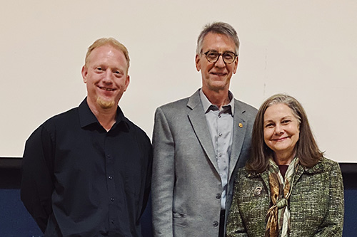 Dr. Nick Sterling, Dr. George Sonneborn and Dr. Pauline Gagnon