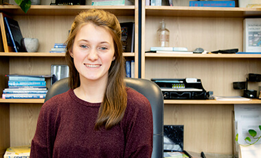 "Undergraduate of physics student Lilly Matteson discovered bold, new opportunities when she decided to ""Go West"" by coming back east. Formerly dual enrolled at the University of West Georgia while in high school, the Villa Rica graduate attended classes out-of-state for a short time before she realized that UWG had opportunities that she couldn't find elsewhere."