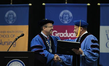 UWG presents Adams with honorary degree