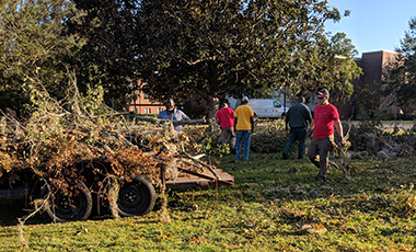 Hurricane Michael tore through Florida and South Georgia, leaving miles and miles of destruction and lives turned upside down. Thanks to Michael, Albany State University lost hundreds of trees, leaving the campus in terrible condition. When Lee Howell, ASU's director of Facilities Management, sent out a call for help on Friday, Oct. 12, UWG was soon to respond.
