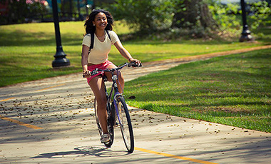 According to Brendan Bowen, assistant vice president of Campus Planning & Facilities, CP&F has actively partnered with Parking and Transportation Services, community stakeholders, and design experts to develop a safe and efficient infrastructure for biking on campus under UWG President Kyle Marrero