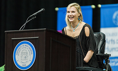 Aimee Copeland believes you can have faith or you can have fear. It's a lesson taught to her by her father, and it's a message that she shared with University of West Georgia graduates on July 25 at the summer commencement ceremony.