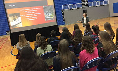 Explore. Discover. Know. These are the opportunities University of West Georgia President Kyle Marrero issued to students at the Carroll County Eighth Grade Career Expo hosted by UWG, West Georgia Technical College and the Carroll County Chamber of Commerce Friday.