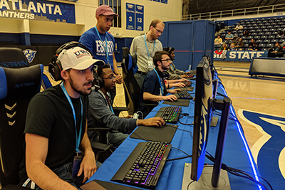 UWG students participate in a gaming competition at Georgia State University