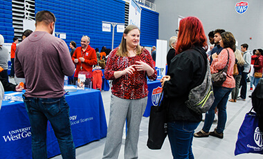 "The University of West Georgia hosted nearly 350 prospective students during fall Preview Day, which serves as an open house to show interested parties the unique opportunities offered at the university. Evan Jaynes, associate director of admissions for campus visits and communications, said Preview Days are ""much more than an open house."""