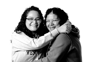 Lucero Delgado and her mother