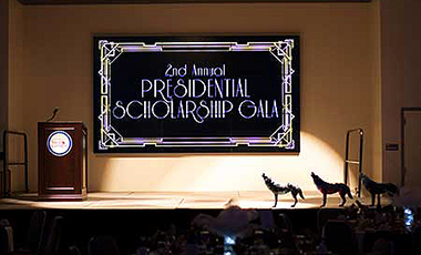 The University of West Georgia held its second annual Presidential Scholarship Gala on Saturday, Sept. 26 at the Campus Center Ballroom. A total of over $75,000 was raised for need-based and gap scholarships for UWG students, an increase of $20,000 from last year's gala proceeds.