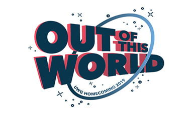 "Strap into your rocket ships, Wolves! Prepare you and your family to blast off for an ""Out of This World"" University of West Georgia Homecoming and A Day of Giving Celebration this October. Our galaxy-wide lineup of fun events for all will have you seeing stars!"