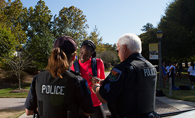 Few programs capture the University of West Georgia's collaborative spirit more than Operation Protect Our Pack, the community partnership that brings together the UWG Police Department, the Carrollton Police Department and the Carroll County Sheriff's Office to strategically align innovative safety initiatives across UWG's campus and within Carrollton and Carroll County.